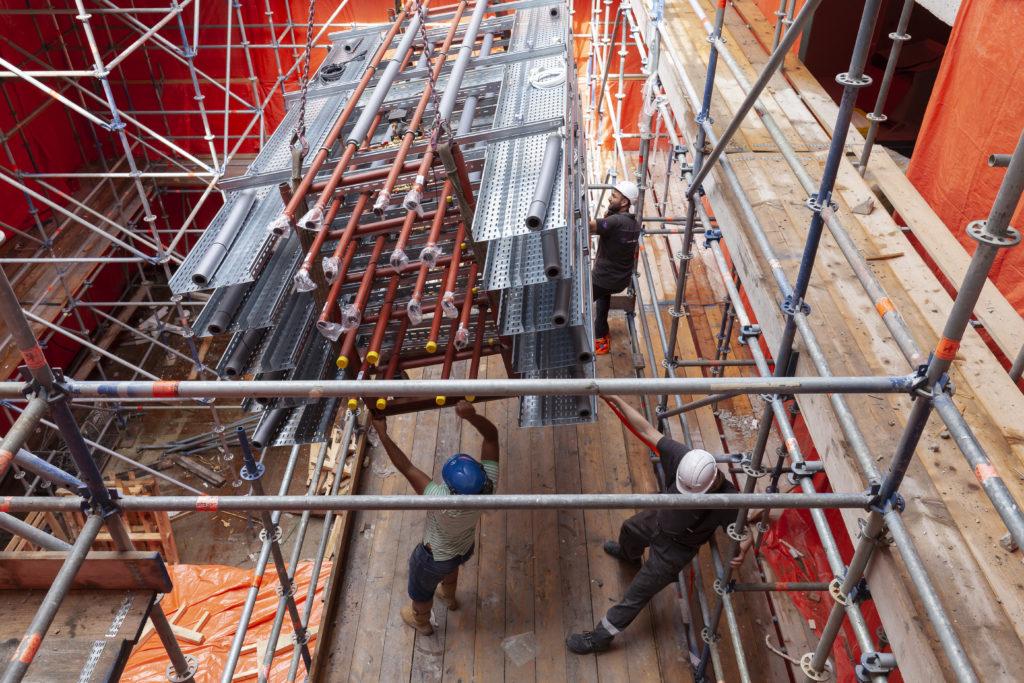 Prefab-onderdelen besparen tijd bij bouw Matrix VII